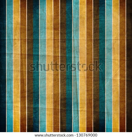 striped retro background in blue, brown, yellow
