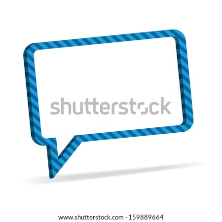 Striped speech bubble,  modern style - stock photo