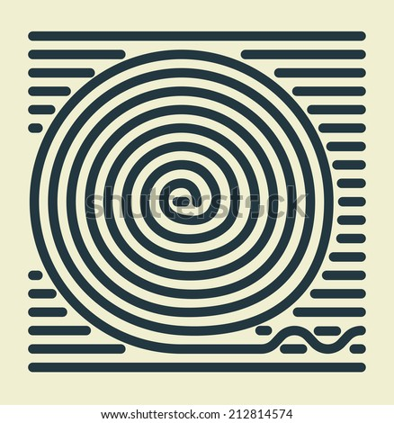 Striped Spiral - stock photo