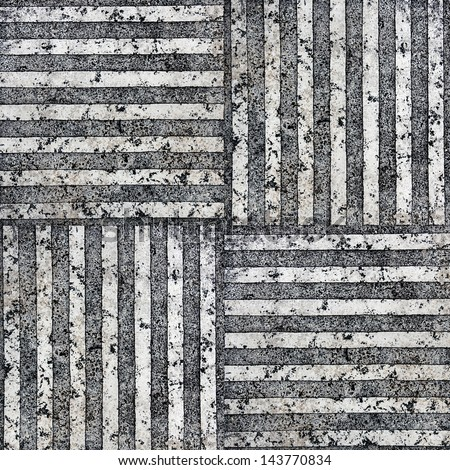 striped stone marble granite slab surface for decorative works or texture - stock photo