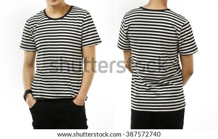 Striped T-shirt - stock photo
