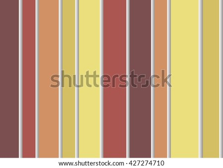 Striped wallpaper modern three-dimensional wall in a bright brown-yellow colors