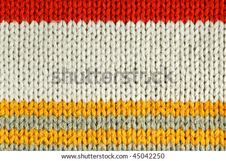 Striped wool, bay be used as background - stock photo