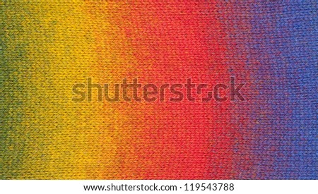 Striped wool texture - stock photo