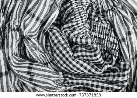 stripes and checkered fabric texture background