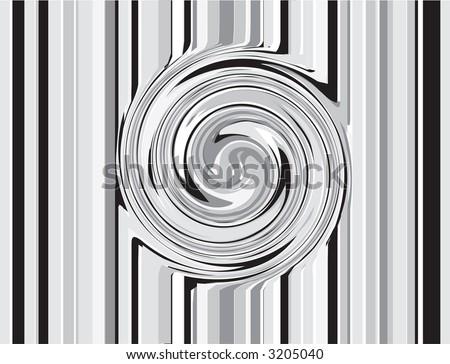 Stripes and Swirl - stock photo