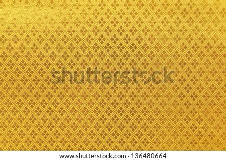 Stripes on Thai silk - stock photo