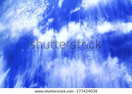 Stripes on the sky / bizarre clouds / still life - stock photo