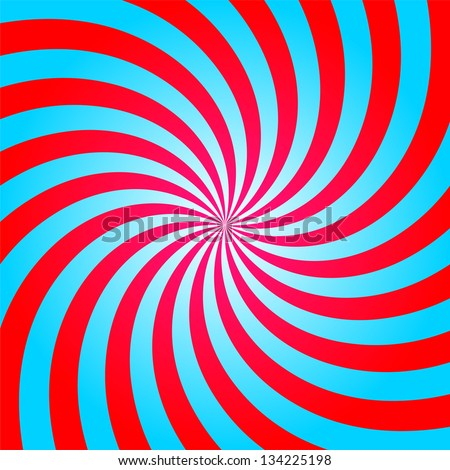 stripes red blue circle square abstract (Raster copy of vector) - stock photo