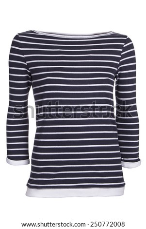 stripped boat-neck shirt