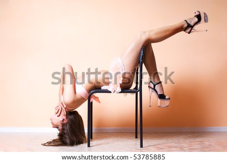 Stripper on chair