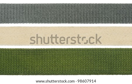 Strips of fabric - stock photo