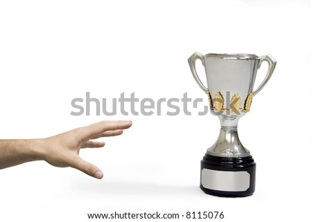 striving for the trophy - stock photo