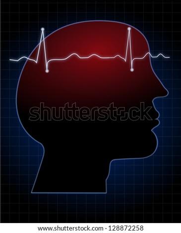 Stroke or Headache danger medical sign - stock photo