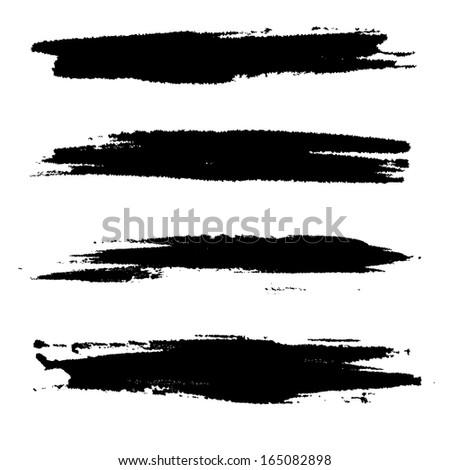 strokes of paint - stock photo