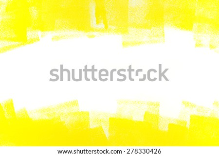Strokes Yellow Paint Roller On White Stock Photo (Royalty Free ...