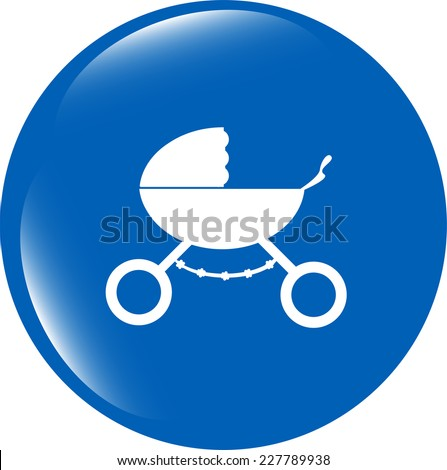 stroller icon in mode isolated on white background - stock photo