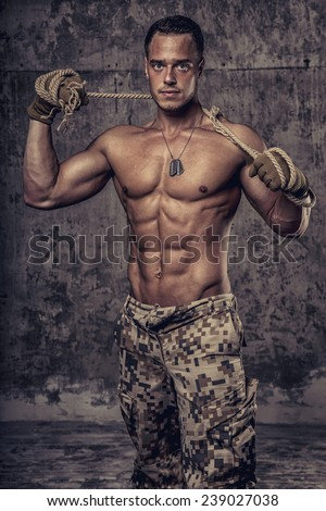 ᐈ Soldier pic stock photos, Royalty Free shirtless soldier