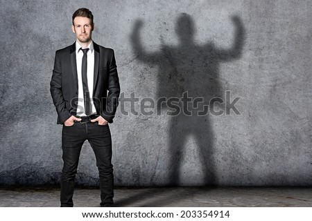 Strong Businessman - stock photo