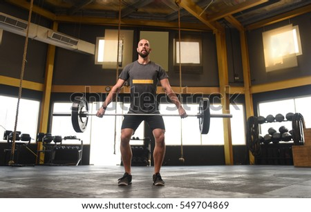 Strong Crossfit Athlete Middle Heavy Snatch Stock Photo Edit Now