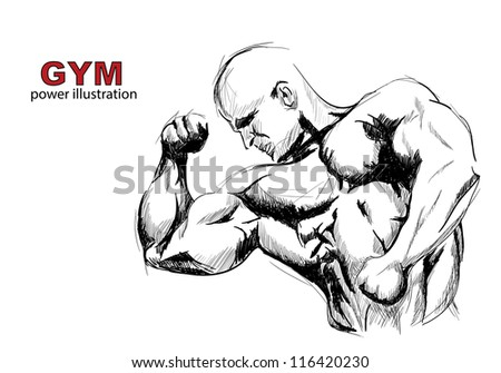 Strong man - stock photo