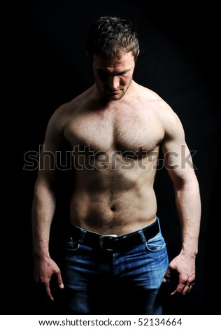 Strong man - stock photo