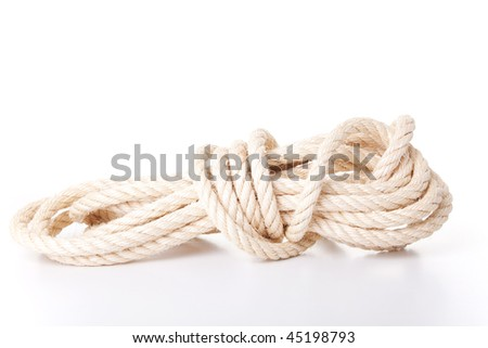 strong piece of rope isolated on white