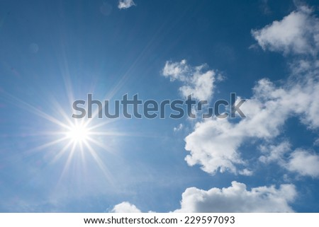 Strong sun and skies