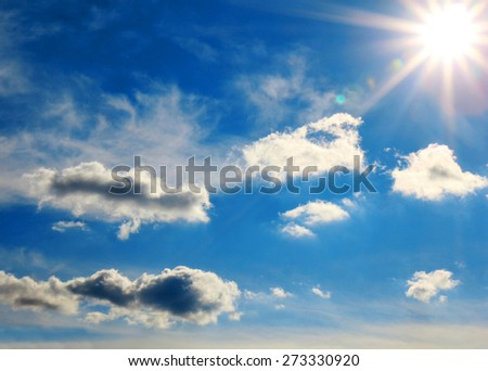 Strong sun and skies  - stock photo