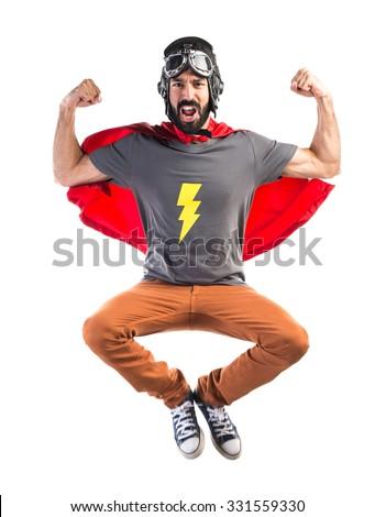 Strong Superhero - stock photo