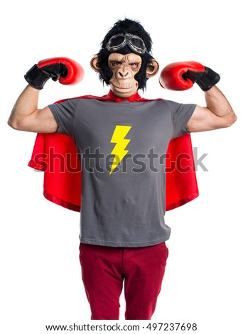 Strong superhero monkey man