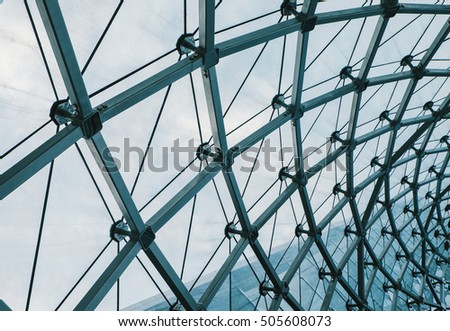 structural glass facade curving roof fantastic stock photo royalty