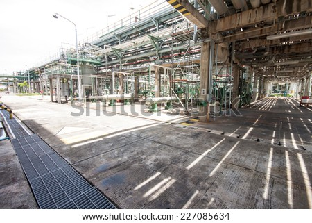 Structural repair zone in factory - stock photo