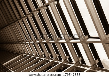 structural steel - stock photo