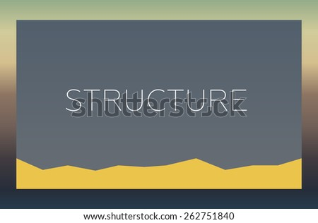 STRUCTURE - stock photo