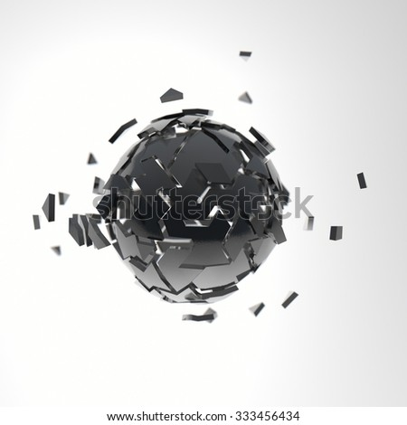 Structure abstract sphere illustration