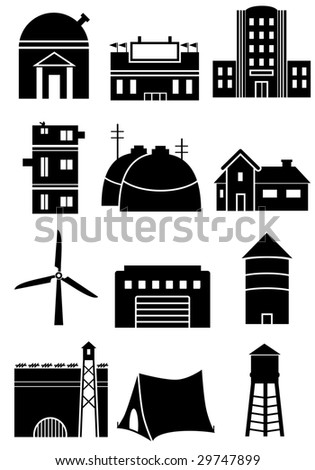 Structure Icons - stock photo