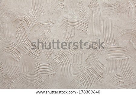 Structure of decorative plaster - stock photo