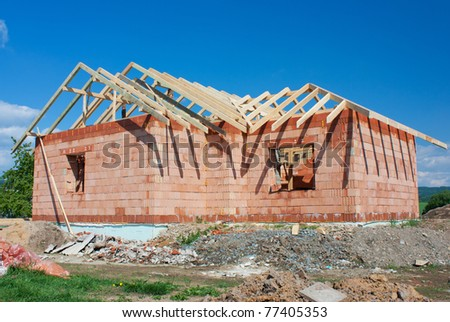 Structure of house in construction