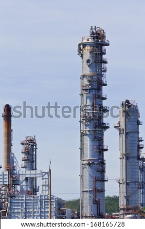 Structure of Oil and chemical factory in day time