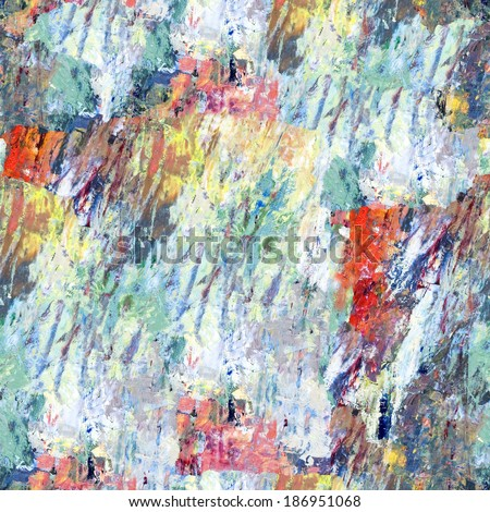 Structure of oil painting. Abstract colorful background. Seamless. - stock photo
