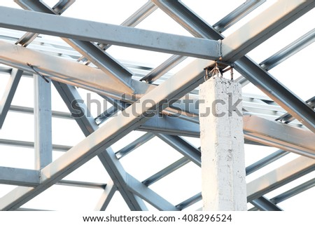 Structure of steel roof