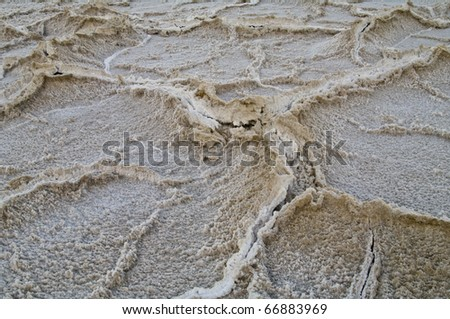 Structure of the crusted saltlake badwater in deathvalley