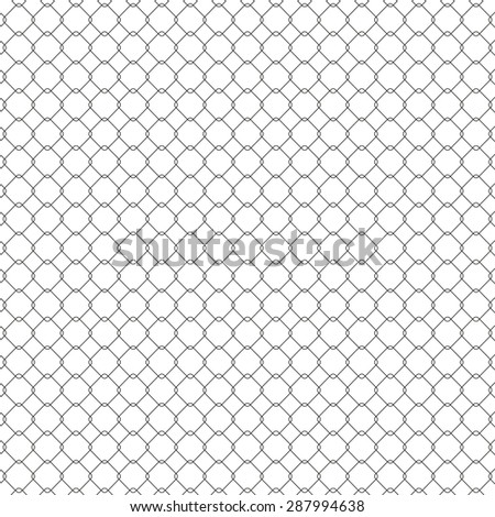 Structure of the mesh fence, seamless texture illustration - stock photo