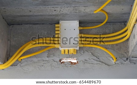 Structure Wiring Diagrams New Buildings Stock Photo (Royalty Free ...