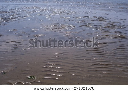 structures in the wadden sea - stock photo