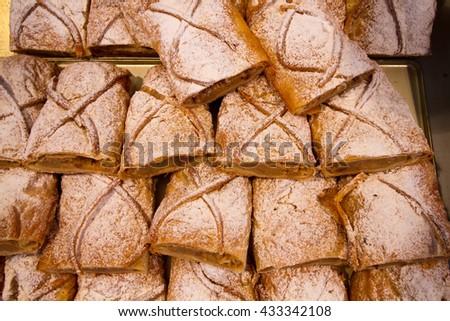 strudel cakes  - stock photo