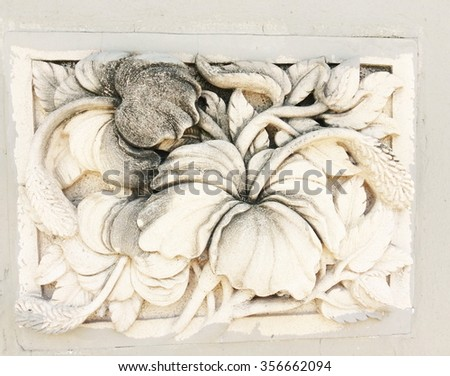 Stucco flower petals background