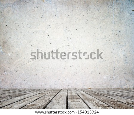 stucco wall and wood floor High resolution