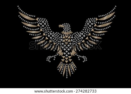 studded eagle for t-shirt